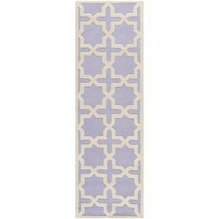 Safavieh Handmade Moroccan Cambridge Lavender Wool Rug (2'6 x 12')