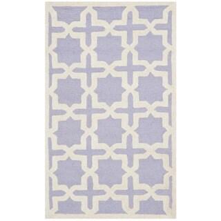 Safavieh Handmade Moroccan Cambridge Lavender Wool Rug (2' x 3')