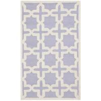 Safavieh Handmade Moroccan Cambridge Lavender Wool Rug - 2' x 3'