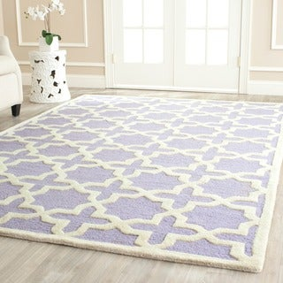 Safavieh Handmade Moroccan Cambridge Lavender Wool Rug (4' x 6')