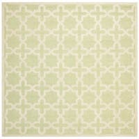 Safavieh Handmade Cambridge Moroccan Light-Green Small-Geometric-Motif Wool Rug - 6' Square
