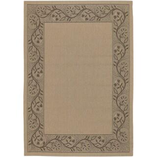 Five Seasons Cream/ Brown Tuscana Rug (3'7 x 5'5)