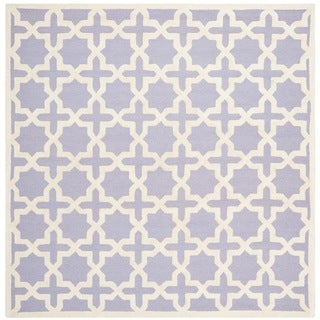 Safavieh Handmade Moroccan Cambridge Lavender Wool Rug (8' Square)