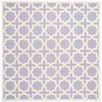 Safavieh Handmade Moroccan Cambridge Lavender Wool Rug - 8' Square