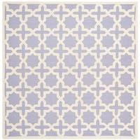 Safavieh Handmade Moroccan Cambridge Lavender Wool Rug - 8' x 8' Square