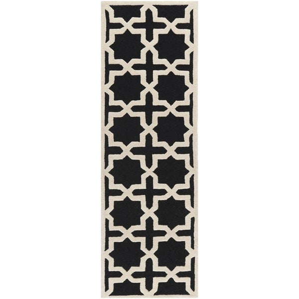 Shop Safavieh Handmade Moroccan Cambridge Black Wool Rug