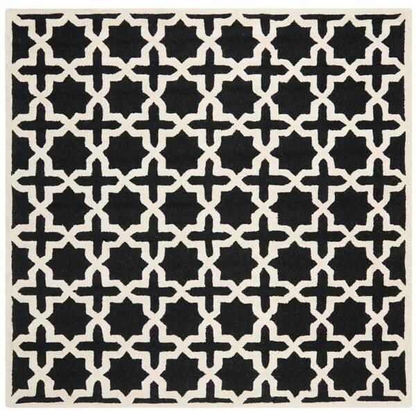 Safavieh Handmade Cambridge Moroccan Black Cross Pattern