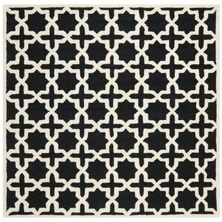 Safavieh Handmade Moroccan Cambridge Black Wool Rug (8' Square)