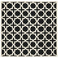 Safavieh Handmade Moroccan Cambridge Black Wool Rug - 8' x 8'