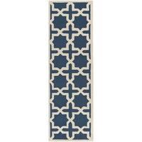 Safavieh Handmade Cambridge Moroccan Navy Wool Runner Rug - 2'6 x 8'