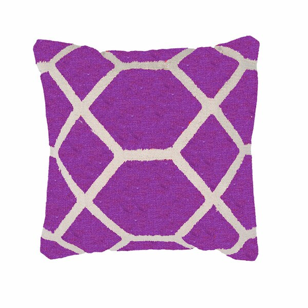 Contemporary Cotton Pink/ Purple Square Pillows ( Set of 2 ). Opens flyout.