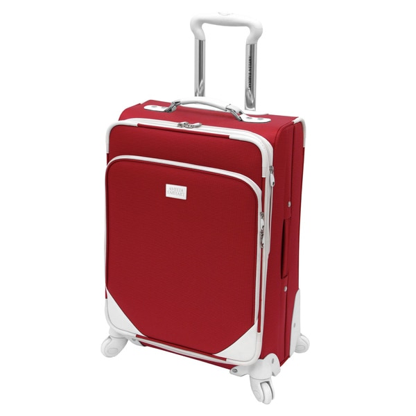 Amelia Earhart Milano 360 Red 21-inch Expandable Carry-on Spinner Upright