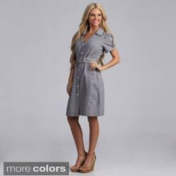 Live A Little Women's Belted Shirt Dress|https://ak1.ostkcdn.com/images/products/7746896/Live-A-Little-Womens-Belted-Shirt-Dress-P15145572a.jpg?impolicy=medium
