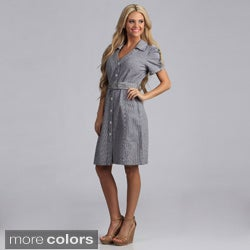 Live A Little Women's Belted Shirt Dress (5 options available)