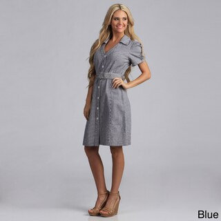 Live A Little Women's Belted Shirt Dress (More options available)