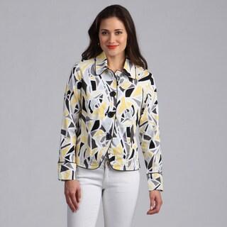 Live A Little Women's Geometrci Printed Lightweight Jacket