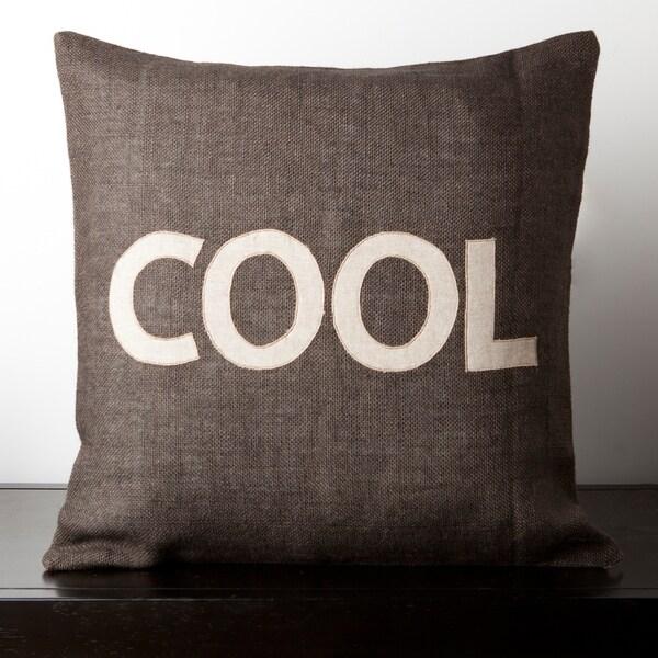 Madison Dark Brown Novelty 22-inch Decorative Down Pillow