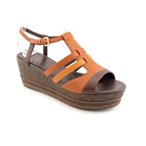 Tahari Women's 'Jane' Brown/Orange Leather Sandals