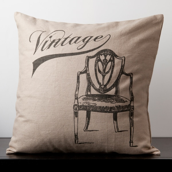 Grace Doe Skin Vintage Chair Novelty 22-inch Decorative Pillow