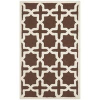 Safavieh Handmade Cambridge Moroccan Dark Brown Wool Area Rug - 3' x 5'