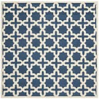 Safavieh Handmade Moroccan Cambridge Navy Wool Rug - 8' x 8'