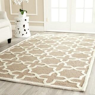 Safavieh Handmade Moroccan Cambridge Beige Wool Rug (6' x 9')