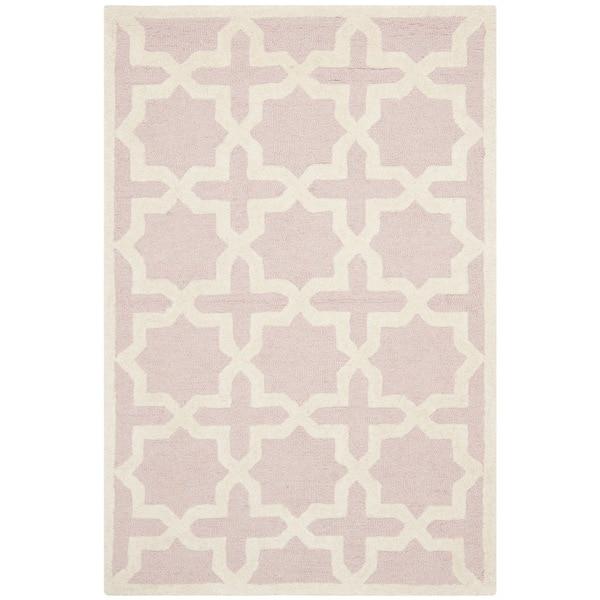 Safavieh Handmade Moroccan Cambridge Light Pink Wool Rug - 2'6 x 4'