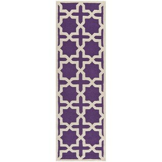 Safavieh Handmade Moroccan Cambridge Purple Wool Rug (2'6 x 6')