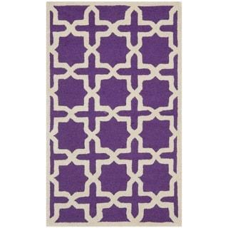 Safavieh Handmade Moroccan Cambridge Purple Wool Rug (2' x 3')