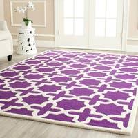 Safavieh Handmade Moroccan Cambridge Purple Wool Rug - 4' x 6'