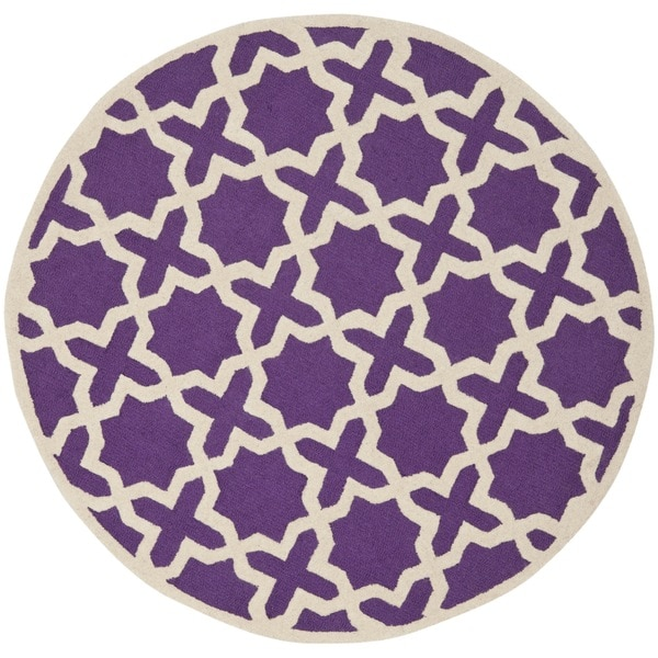 Purple Circle Rugs: Shop Safavieh Handmade Moroccan Cambridge Purple Wool Rug