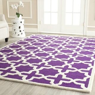 Safavieh Handmade Moroccan Cambridge Purple Wool Rug (6' x 9')