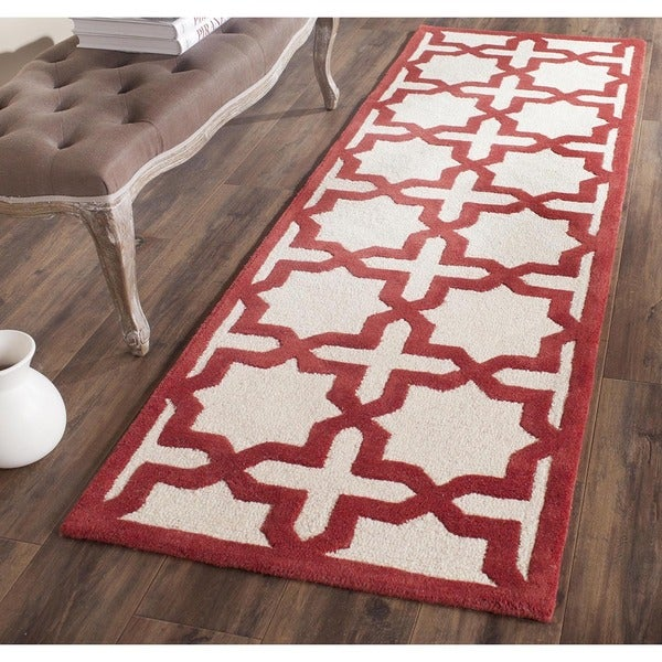 Shop Safavieh Handmade Moroccan Cambridge Rust Wool Rug