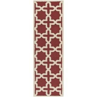 Safavieh Handmade Moroccan Cambridge Rust Wool Rug (2'6 x 8')
