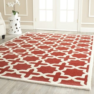 Safavieh Handmade Moroccan Cambridge Rust Wool Rug (6' x 9')