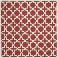 Safavieh Handmade Moroccan Cambridge Rust Wool Rug - 6' Square