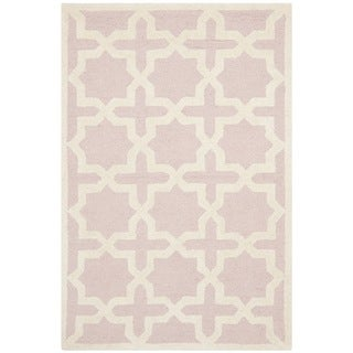 Safavieh Handmade Moroccan Cambridge Light Pink Wool Rug (3' x 5')