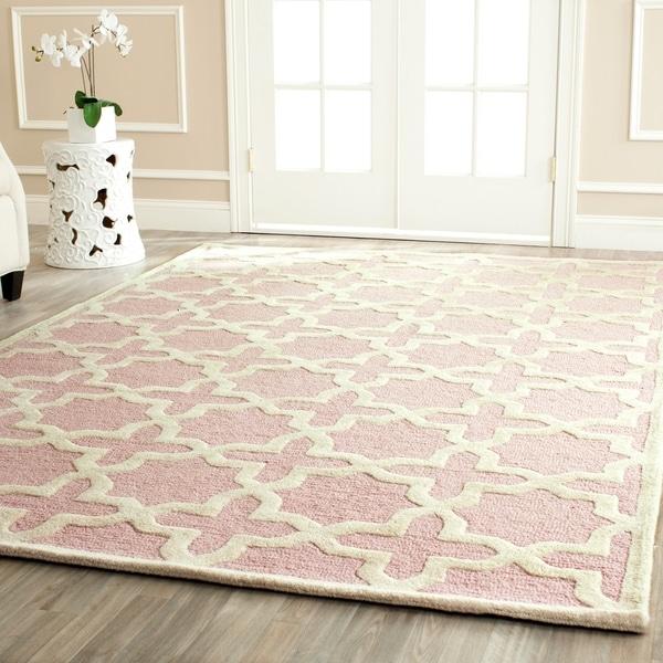 Safavieh Handmade Moroccan Cambridge Light Pink Wool Rug - 9' x 12'
