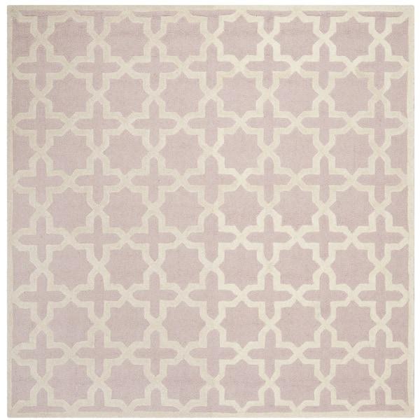 Safavieh Handmade Moroccan Cambridge Light Pink Wool Rug (8' Square) - 8' x 8'