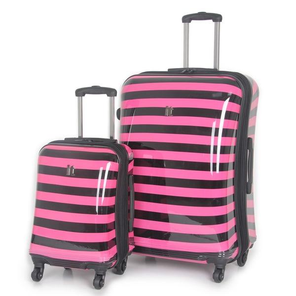 International Traveller 'Kingston' 2-piece Hardside Spinner Luggage Set