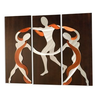 Scarf Dance 3-Panel Metal Wall Art