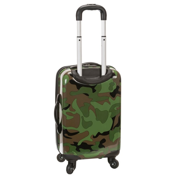 Rockland Designer Camo 20-inch Lightweight Hardside Carry On Spinner Upright Suitcase