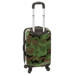 Rockland Designer Camo 20-inch Lightweight Hardside Carry On Spinner Upright Suitcase