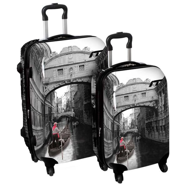International Traveller 'Venice Bridge' 2-piece Fashion Hardside ...