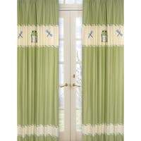 Sweet Jojo Designs Green Yellow And Ivory 84 Inch Window