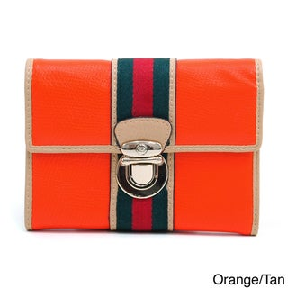 Anais Gvani Women's Petite Two-tone Buckle Front Wallet