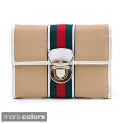 Anais Gvani Women's Petite Two-tone Buckle Front Wallet