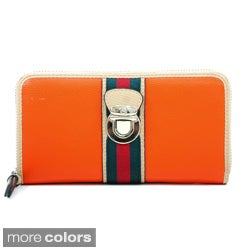 Anais Gvani Women's Two-tone Zip-around Wallet