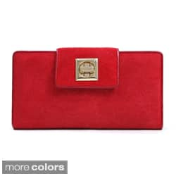 Anais Gvani Suede and Leather Checkbook Wallet|https://ak1.ostkcdn.com/images/products/7748422/Anais-Gvani-Suede-and-Leather-Checkbook-Wallet-P15147065z.jpg?impolicy=medium