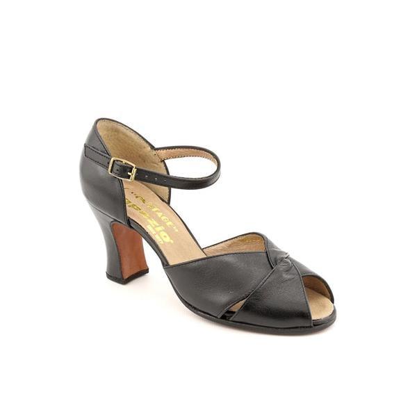 Capezio Women's 'Cabaret' Leather Athletic Shoe (Size 4)